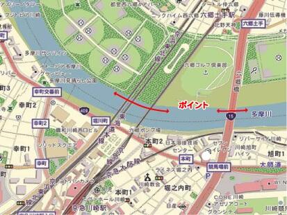 多摩川 テナガエビ 釣り 三本鉄橋 六郷橋